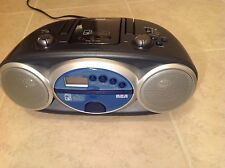 RCA RCD029 Portable CD Boombox with AM/FM Tuner MP3 player storage