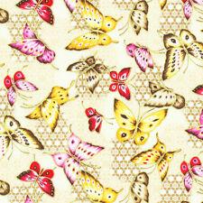 Cuarto gordo jardín asiático Mariposas Algodón Colchas de retazos de tela lo Fabri Edredón