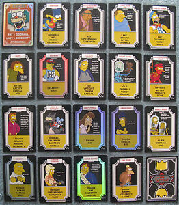 The Simpsons TCG Rare and Foil Cards Part 1/2 (A - M)