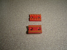 """Lot of 2 AUGAT 514-AG10D 300 MIL 0.3"""" DIP 14 PIN GOLD IC SOCKET, TE Connectivity"""