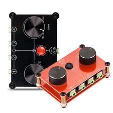 4 Port Manual Audio Switcher Box AUX 3.5mm Stereo Mini Headphone Jack Splitter