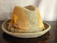 Vintage Cavanagh Pace-Setter Collection Fedora Hat Size 7 w/ Suede Decoration