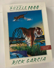 Vanishing Tiger Puzzle 1000 Pieces Rick Garcia The Gallery Milton Bradley NEW