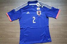 Japan #2 Uchida 100% Original Soccer Jersey Shirt 2014/2015 Home L [2805]