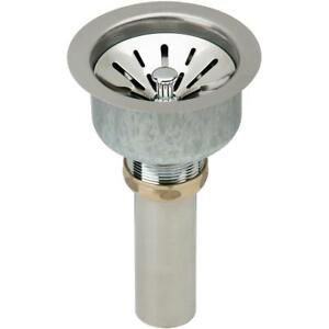 """Elkay LK99 3 1/2"""" Basket Strainer and Tail Piece for Kitchen Sinks, Polished Sta"""