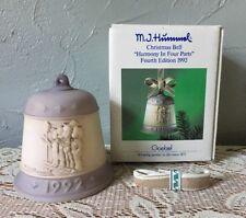 M.J. Hummel Christmas Bell Ornament 1992 Fourth Edition Goebel W. Germany