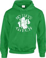 No Lucks Given St Patricks Day Saying Slogan Parody Funny Humor Joke Mens Hoodie