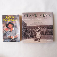 Golf 2 Books Classic Shots Greatest Images M Parkes USGA + Greg Norman Biography