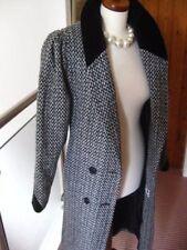 Ladies YESSICA vintage C&A TWEED WOOL COAT UK 14 retro 1970s 80s power shoulders