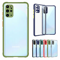 For Samsung Galaxy S21 Note20 S20FE Shockproof Colorful Bumper Clear TPU Case