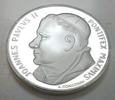 Pope Silver Coin Unusual Cross Crucifix Roman Catholic Church Virgin Mary Peace