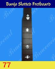 Free Shipping, Banjo Part - Slotted Fretboard w/MOP Art Inlay (G-77)