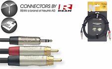 """STAGG NYC3/MPS2CMR 10 FT Y CABLE STEREO MINI 1/8"""" MALE JACK W 2 RCA MALE JACKS"""