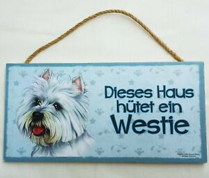 Westie Dog Wooden Sign Cute Pet Hanging Wall Sign 5 x 9.8 Inch Home Décor Gift