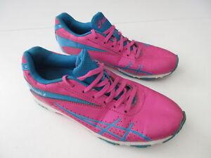 Girl's ASICS 'Gel Stormgirl 2' Sz 5 US Runners ExCn Pink Blue   3+ Extra 10% Off
