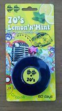 Car Air Freshener. Retro 70's record. Lemon & mint Scent. Hanging type. 60 days.