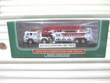 Hess 2010 White Miniature Ladder Fire Truck 13th Issue New in New Box