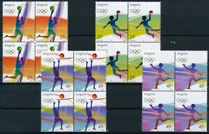 [P15354] Angola 2004 : Olympics - 4x Good Set of Very Fine MNH Stamps in Blocks