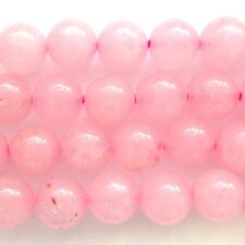 "16"" Semi Precious GEMSTONE Rose Quartz 10mm Round Beads"