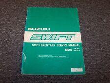 1989 Suzuki Swift Shop Service Repair Manual Supplement GA GL GS GLX 1300 1.3L