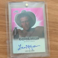 2018 Leaf Pop Century Signatures Pink  #BA-LM1 Lee Majors 5/20 Auto Fall Guy
