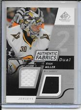 08-09 SP Game Used Ryan Miller Authentic Fabrics Dual Jersey