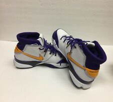 NEW Nike KOBE 1 PROTRO AQ2728-101 Men's White Del Sol Purple Colors Size 8