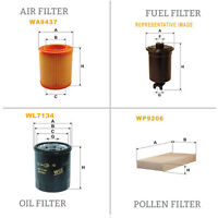 WIX AIR POLLEN OIL & FUEL Filter Service Kit WA9437,WP9206,WL7134,WF8119