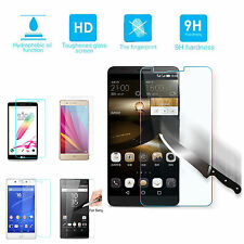 5X 2X Premium 9HD Clear Tempered Glass Front Screen Protector For Mobile phones