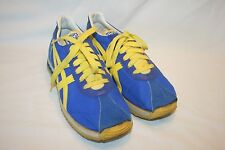 Vintage Asics Tiger Made in Japan Blue Yellow Sneakers Shoes Size 5 EUC