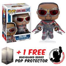 FUNKO POP VINYL MARVEL CAPTAIN AMERICA 3 FALCON EXCLUSIVE + FREE POP PROTECTOR