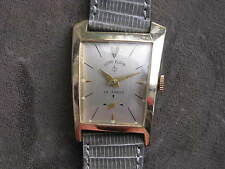 Lord Elgin 23j Vintage Gold Filled Wrist Watch, Unusual Asymetric Case
