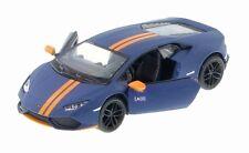 New Kinsmart Lamborghini Huracan Lp610-4 Avio Diecast Model Toy Car 1:36 Blue