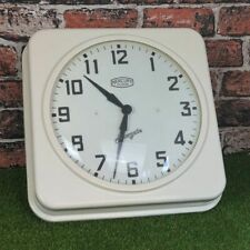"Vintage Style Newgate ""THE MERCURY"" Cream Metal/Tin Wall Clock"