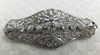 Antique Platinum Diamond 18ct Gold Art Deco Brooch