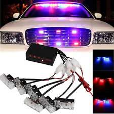 6X 3 LED Red & Blue Car Dash Strobe Light Flash Emergency Police Warning Lamp US
