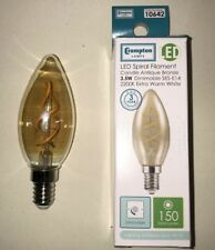 2 x E14 Crompton LED Spiral Filament Candle Bulbs 3.5W Dimmable Extra Warm White