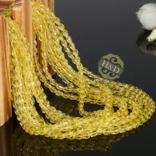1000 PCS Gold Faceted Crystal Loose Spacer Teardrop Beads Jewelry Making 3x5mm
