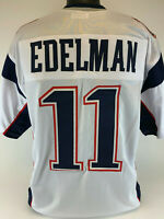 Julian Edleman Unsigned Custom Sewn White Football Jersey Size - L, XL, 2XL