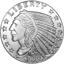 1/10~OZ ~ PURE .999 SILVER ROUND ~ INDIAN  HEAD ~ AWESOME ~ $4.48 ~ BUY IT NOW !