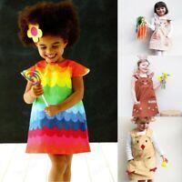 Toddler Kids Baby Girl Sumemr Easter Cartoon Bunny Rabbit Princess Dress Outfit