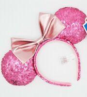 Disney Headband Minnie Mouse Spangle Pink Ears
