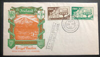 1958 Dublin Ireland First Day Cover FDC Errigal Mountain Cachet