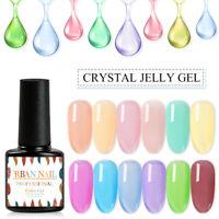 14 Colors 7ml Jelly Crystal Gel Soak Off UV Gel Nail Polish Semi-transparent DIY