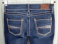 BKE Stella Skinny Womens 26 26x31 Denim Blue Jeans Bling Embellished Medium Wash