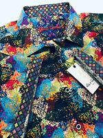 Robert Graham Large Shirt Mens Geometric Rainbow Classic Short Sleeve New