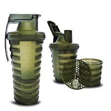 Smart Shaker Grenade 20 oz (600ml) Powder & Capsule Storage + 4 Capsules Trial