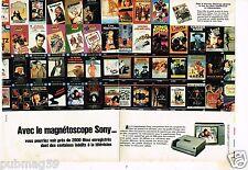 Publicité advertising 1982 (2 pages) Le magnétoscope Sony