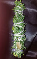 "Cedar &  Rosemary, CITRINE Incense Smudge Stick 4-5"",  Magic, Blessed Reiki!"