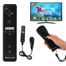 Black Built in Motion Plus Remote and Nunchuck Controller for Nintendo Wii AC618